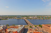 View of Daugava River in Riga, Latvia — Stock Photo