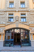 Portal of Hotel Neiburgs in Riga, Latvia — 图库照片