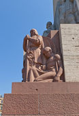 Freedom Monument in Riga, Latvia (fragment) — Stock Photo