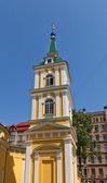 Belfry of St. Alexander Nevsky church (1825) in Riga, Latvia — Stock Photo