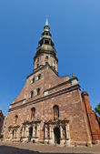 St. Peter church (1209) in Riga, Latvia — Stock Photo