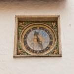 Clock (1684) of Holy Spirit church in Tallinn, Estonia — Stock Photo #48527783