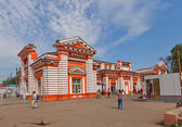 Railway station in Dmitrov, Russia — Stock Photo