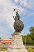 Statue of St Demetrius of Thessaloniki  in Dmitrov, Russia — ストック写真