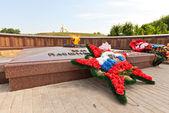 World War II memorial in Dmitrov, Russia — Stock Photo