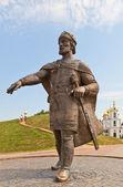ドミトロフ、ロシアのユーリ dolgorukiy の記念碑 — ストック写真