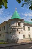 Toren (1689) van st boris en gleb klooster in dmitrov, rusland — Stockfoto