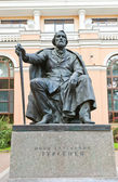 Sculpture of Ivan Turgenev in Saint Petersburg, Russia — Stock Photo