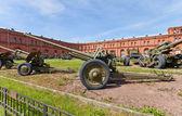 Soviet 76-mm divisional gun M1936 (F-22) — Stock Photo