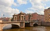 Lomonosov Bridge in Saint Petersburg, Russia — Stock Photo