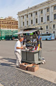 Souvenir retailer at Palace Square in Saint Petersburg, Russia — Stock Photo