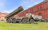Soviet heavy rocket launcher system 9A52 Smerch — Stock Photo