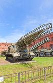 Soviet rocket launcher 2P19 of missile complex 9K72 Elbrus — Stock Photo