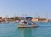 Local boat line in Trogir, Croatia — Stock Photo