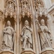 Statues of saints of Zagreb cathedral (XVIII c.). Croatia — Stock Photo #51321313