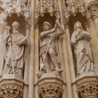 Statues of saints of Zagreb cathedral (XVIII c.). Croatia — Stock Photo #51321317