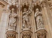 Statues of saints of Zagreb cathedral (XVIII c.). Croatia — Stock Photo