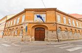 Building XIX c. in Zagreb, Croatia — Stok fotoğraf