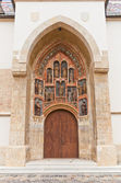 Portal of Church of St. Mark (XIII c.). Croatia — Zdjęcie stockowe