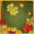 EPS10 Autumn leaves grunge background. Vector illustration. — Stockvektor  #12023277