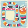 Vector Christmas background with funny socks for gifts. — Stock Vector #12541581
