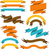 Set of retro ribbons and labels. Vector illustration. — 图库矢量图片