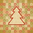 Vector vintage Christmas background in retro style. - Stock Vector