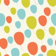 Vector seamless in retro style pattern, flying balloons. — Stock Vector #12674353