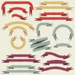 Set of retro ribbons and labels. Vector illustration. — Stock Vector #12680940