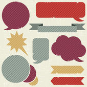 Collection of retro speech bubbles and dialog balloons — Cтоковый вектор