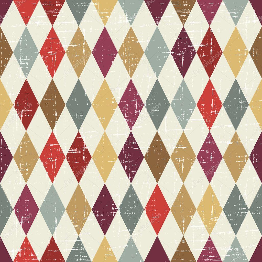 Seamless Abstract Retro Pattern. Stylish Geometric