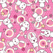 Seamless pattern with doodle. Vector kawaii illustration. - Grafika wektorowa