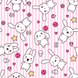 Seamless mönster med doodle. vektor kawaii illustration — Stockvektor