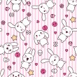 Seamless pattern with doodle. Vector kawaii illustration. — Vettoriale Stock #12711562