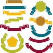 Set of retro ribbons and labels. Vector illustration. — Stock Vector