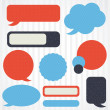 Collection of retro speech bubbles and dialog balloons - Stok Vektr