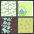 Set of vector easter backgrounds, lots detail! - Stock Vector