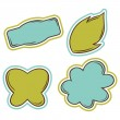 Set of vector bubbles, stickers, labels, tags. — Stock Vector
