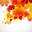 Autumn background with yellow leaves. Vector illustration. — Stock Vector #12897298