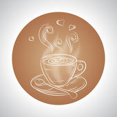 Design with cup of coffee and place for text — Stock Vector