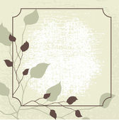 Retro styled vector background with brown leaves. — Stock Vector