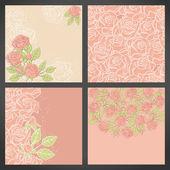 Blumen hintergrund mit rose in pastelltönen. — Stockvektor