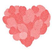 Background of pink flower petals. Vector illustranion. — Stock Vector