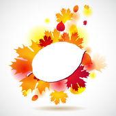 Sarı sonbahar arka planda kalıyor. vektör çizim. — Stok Vektör