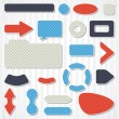 Set of icons, buttons and menus for websites. - Stock Vector