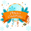Vector Merry Christmas background in retro style. — Stock Vector #13157887