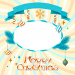 Vector Merry Christmas background in retro style. - Imagens vectoriais em stock