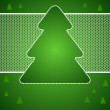 Christmas vector background with tree of lace. — Vektorgrafik