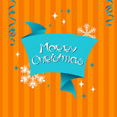 Vector Merry Christmas background in retro style. — Stock Vector