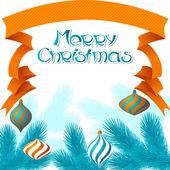Merry christmas arka planda retro tarzı vektör. — Stok Vektör